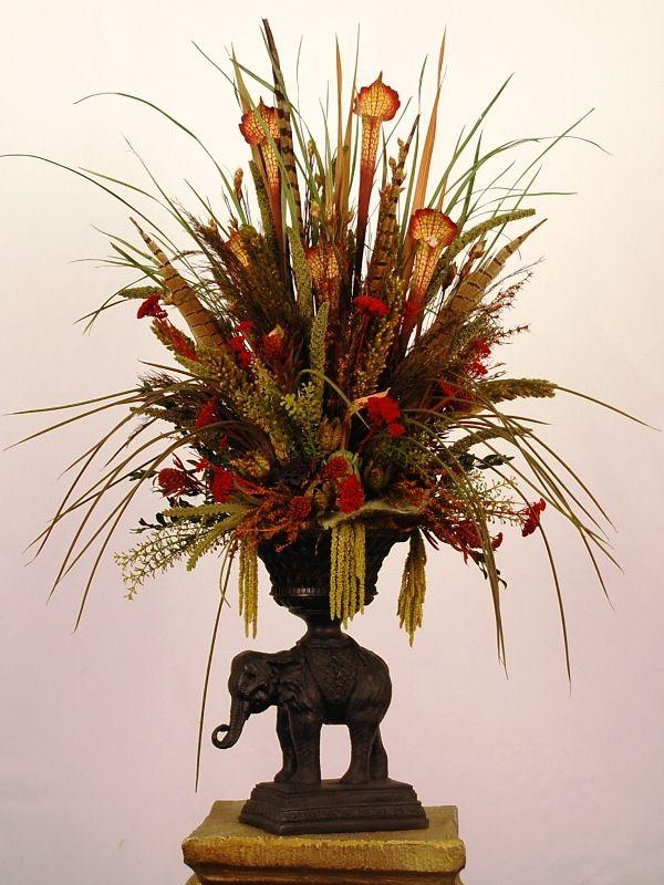 9 best floral arrangements images on pinterest flower for Decoracion con ramas secas