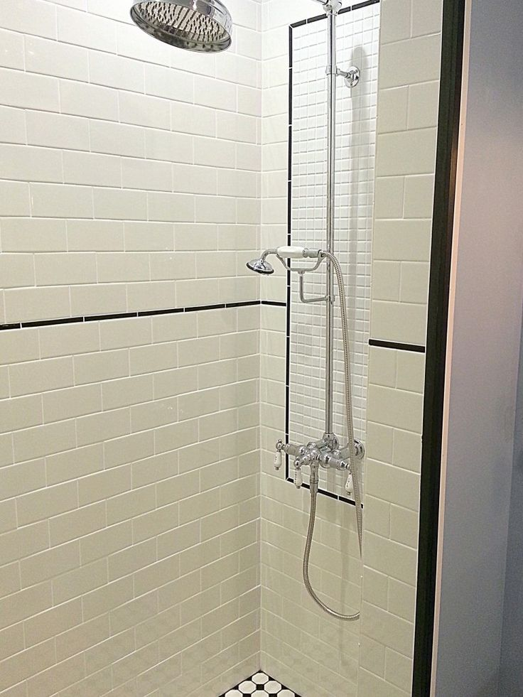 Exposed Shower - Farmhouse Bathroom Remodel