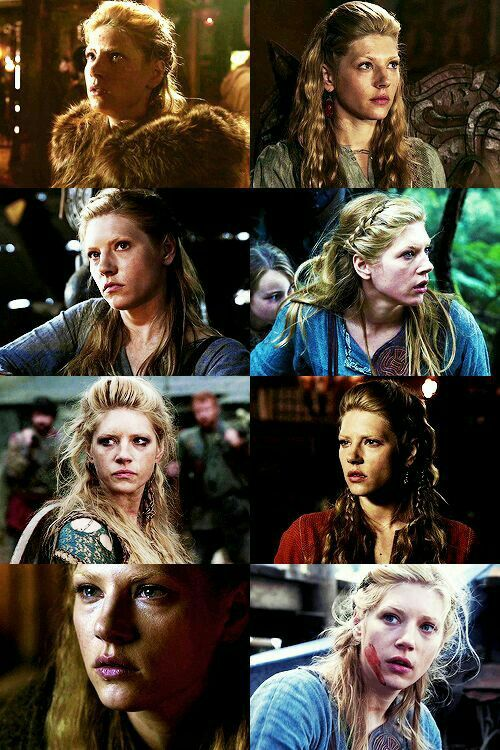 """The Many Faces of Lagertha.  Vikings on the History Channel.  """"Lagertha"""""""