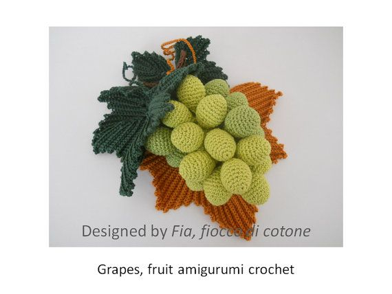 Amigurumi Grapes Pattern : 1000+ images about Crochet Grapes on Pinterest Jars ...