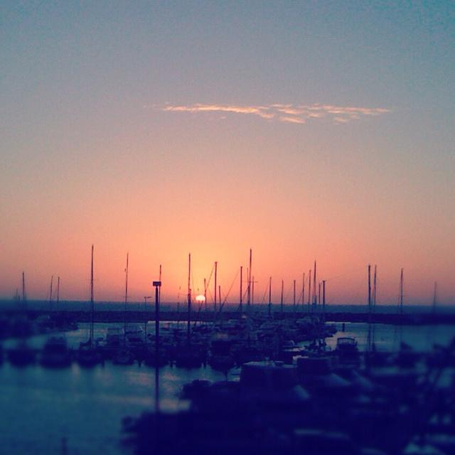 Sunset over Hilarys Boat Harbour