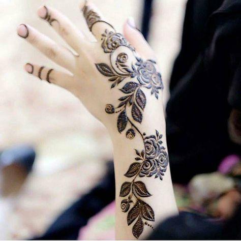 Pretty Back Hand Mehndi Design