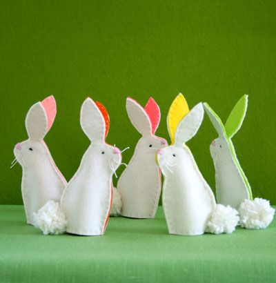 Click Pic for 50 Easter Crafts for Kids - Bunny Finger Puppets - Easter Craft Ideas for Preschoolers