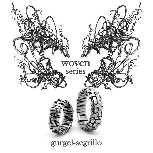 'woven' series rings by gurgel-segrillo