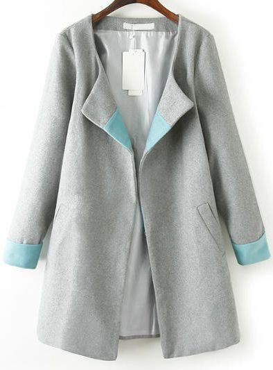 Shop Grey Long Sleeve Loose Woolen Trench Coat online. Sheinside offers Grey Long Sleeve Loose Woolen Trench Coat & more to fit your fashionable needs. Free Shipping Worldwide!