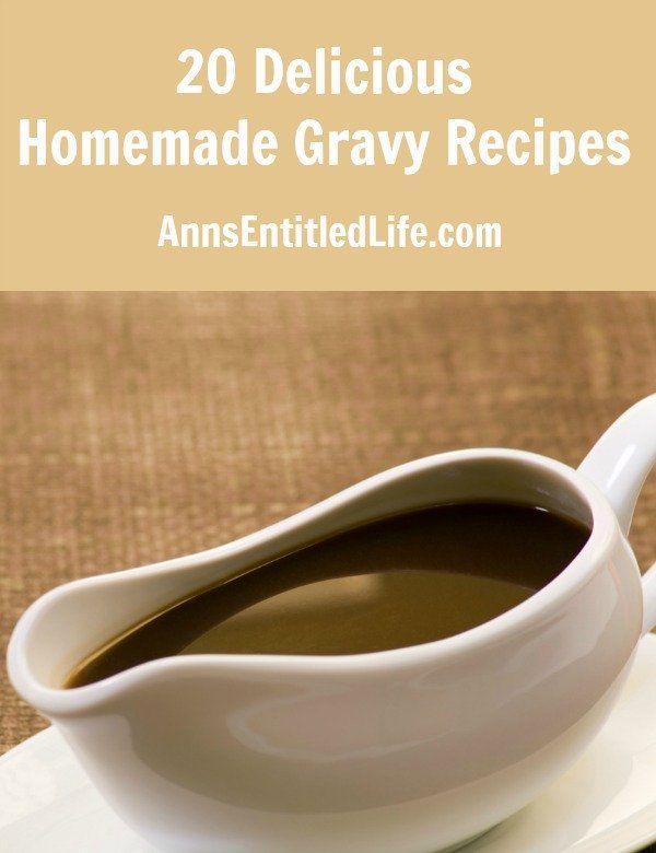 20 Delicious Homemade Gravy Recipes