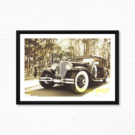 Classic Car Canvas Print Ready To Frame High Quality by decalplaza, $17.99