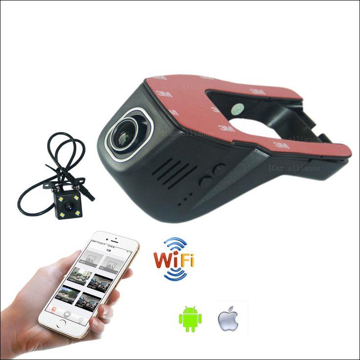 APP Управления Wi-Fi Car DVR Для honda accord Двойная Камера Автомобиля Video Recorder Скрытая Установка WDR Автомобиль Тире Камеры Автомобильный Черный Ящик