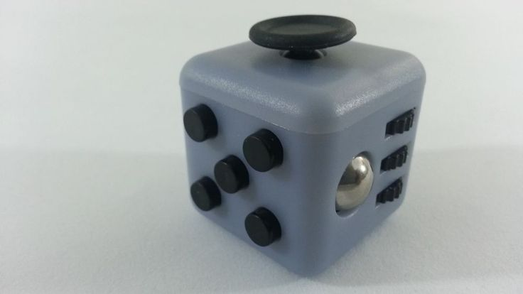 Gray Fidget Cube Stress Autism Anti- Anxiety Focusing Relief Attention ADHD