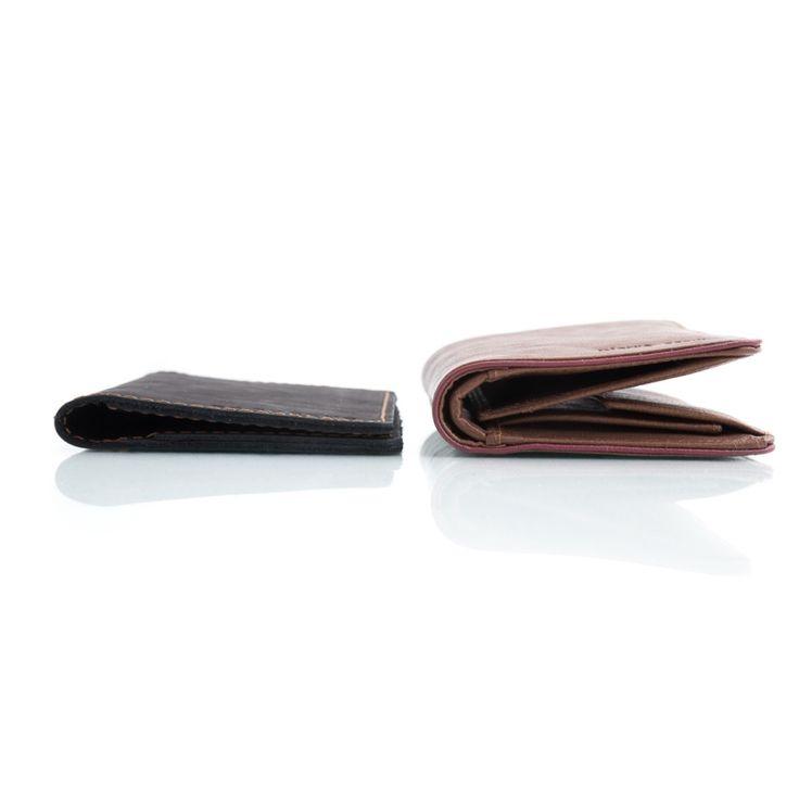 cienki portfel Brødrene + bilonówka czarny