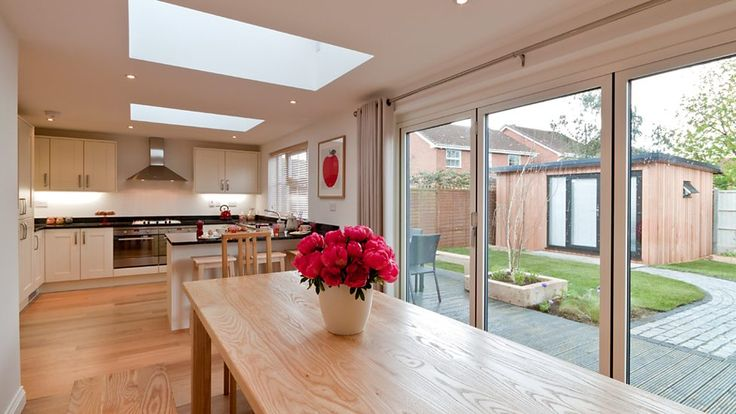 BBC One - After: Kitchen/diner and garden room - DIY SOS, Series 23, The Big Build - Huntingdon - Huntingdon: Before and after