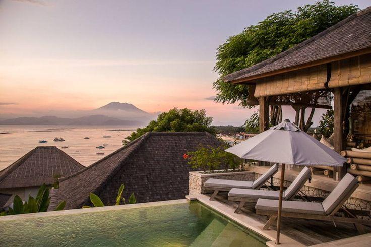 Villa Kundalini | 2 bedrooms | Nusa Lembongan, Bali #swimmingpool #villa #bali #nusalembongan #ocean #mountain #view #sunset