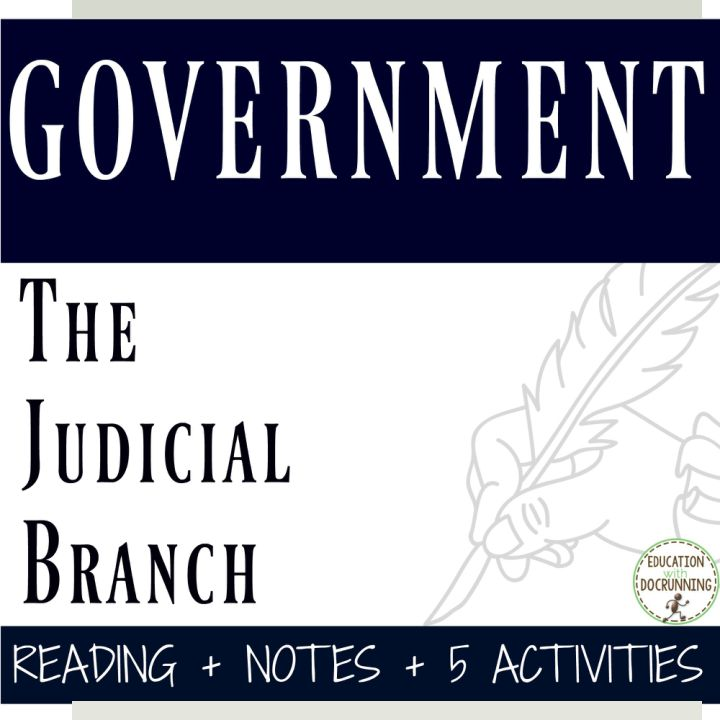 notes on the judicial branch Introduction to the judicial branch this section explains the role of the supreme court and the judicial branch of the government.