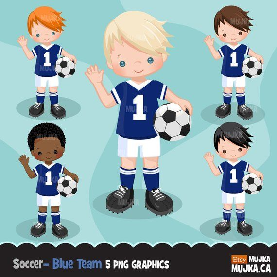 Soccer Clipart Sport Graphics Boys Soccer Player Characters Etsy In 2020 Sports Graphics Soccer Boys Sports Theme
