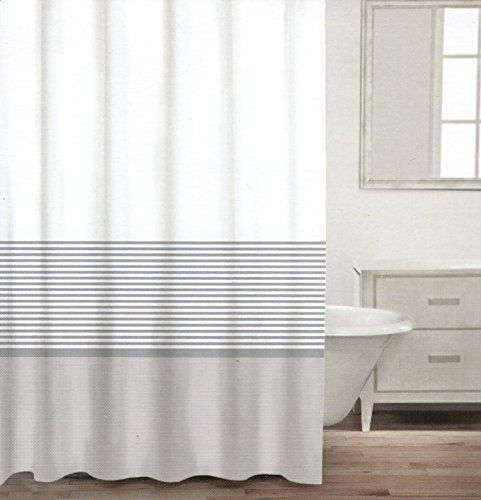 tan and white shower curtain. CARO Home Urban Stripes Fabric Shower Curtain Wide Light Gray White and  Metallic Silver Grey Striped 141 best images on Pinterest curtains Bathroom