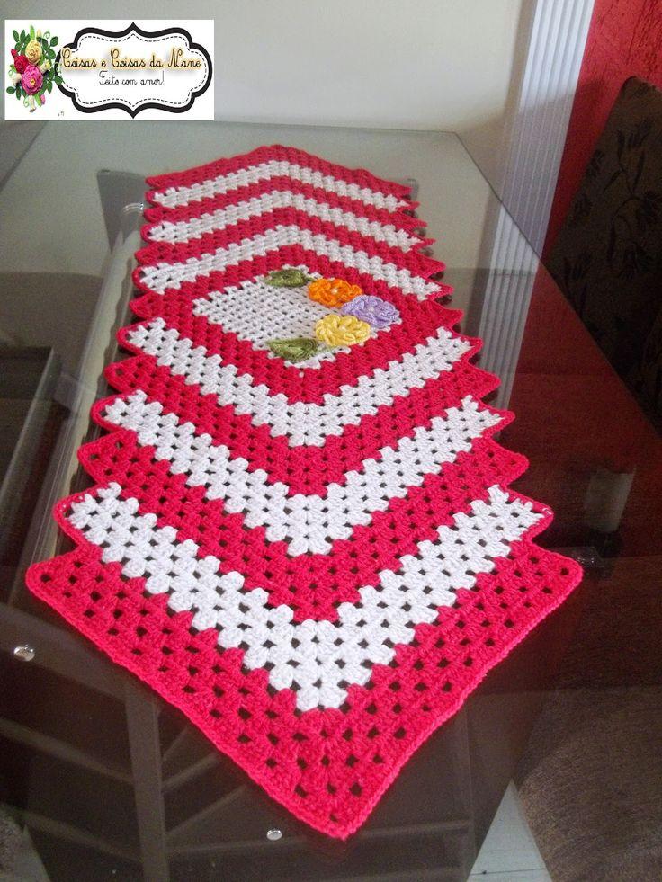 25 melhores ideias de croche caminho de mesa no pinterest for Tapete mesa
