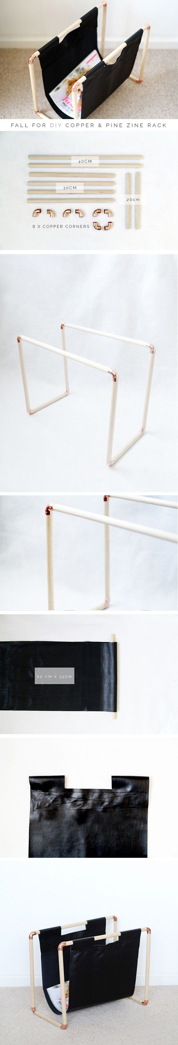 Sencillo revistero DIY / http://www.fallfordiy.com/