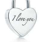 """My """"I love you"""" lock pendant from my hubby.  I wear it every day.  :)"""