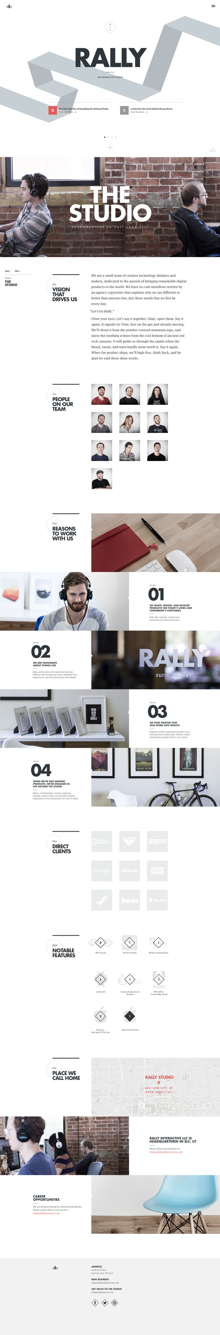 The Studio Page | Ben Mingo | Rally Interactive | dribbble