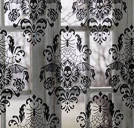 Damask Skull Window Panel
