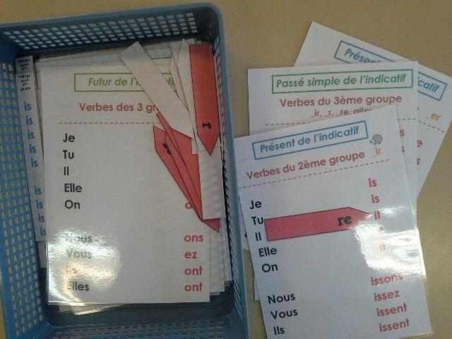 Une super idée pour la remédiation ou l'entraînement en conjugaison ! ^^ sur Loustics - ma classe de cycle 3