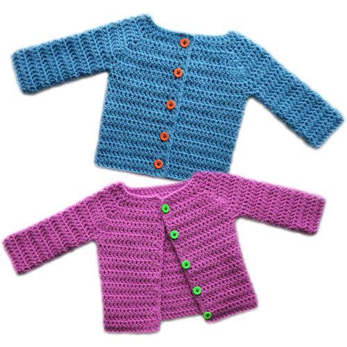 Klassische Baby Cardigan Sweater 5 Größen  von CrochetSpotPatterns