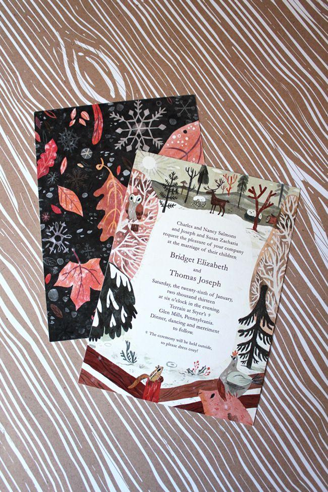 watch wedding invitation movie online eng sub%0A loveleigh invitations  work wednesday  bridget   tom  custom illustrated wedding  invitation suite