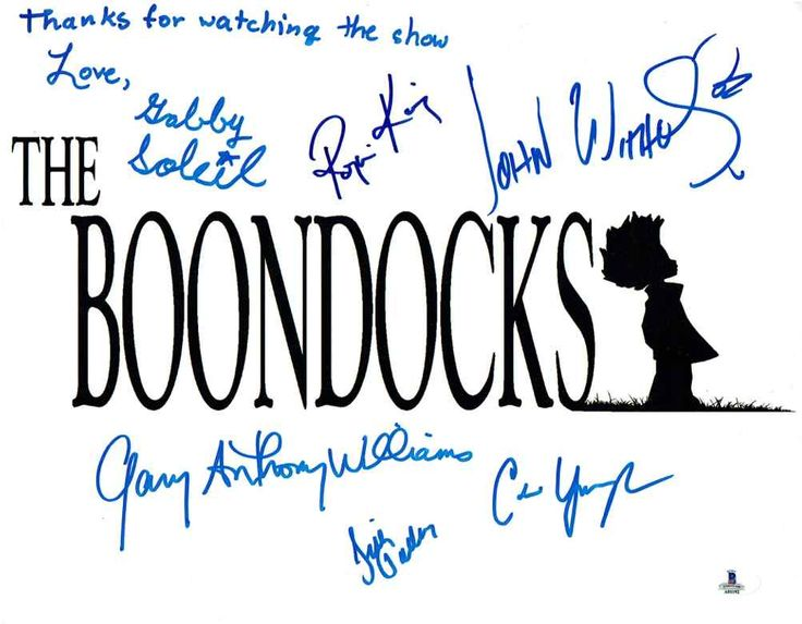The Boondocks TV Cast Signed 11x14 Photo Certified Authentic Beckett BAS COA