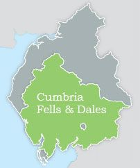 Cumbria Fells & Dales Map