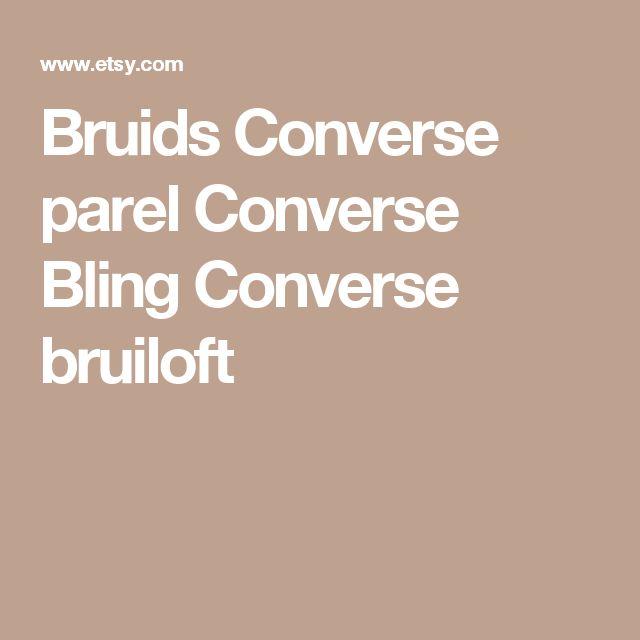 Bruids Converse parel Converse Bling Converse bruiloft