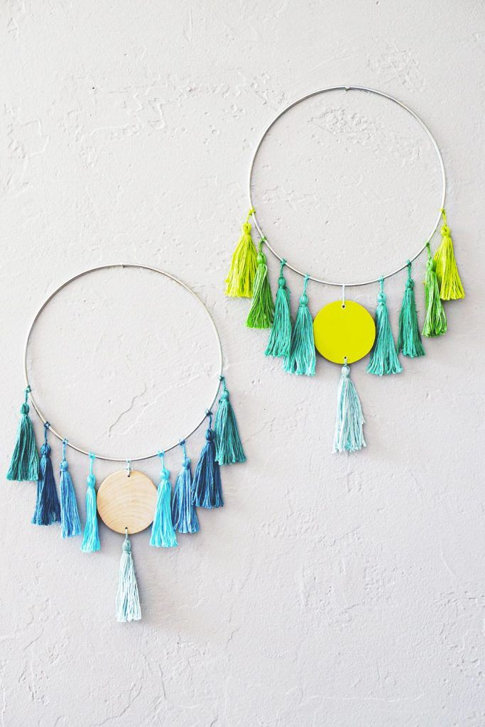 521 best decorate wall art images on pinterest craft ideas diy cute bohemian tassel wall hanging solutioingenieria Images