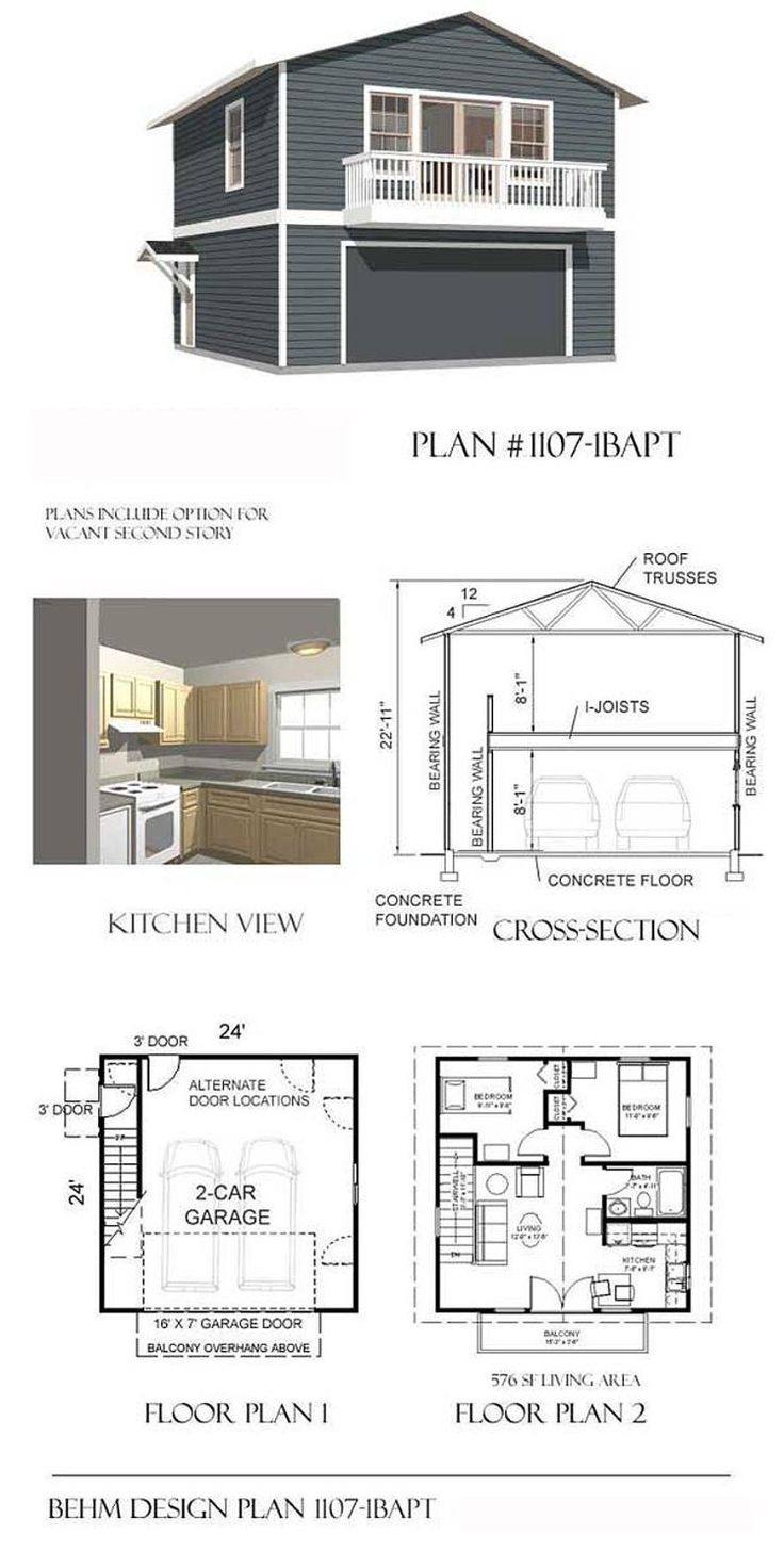 Garage plans two car two story garage with apartment and Garage apartment design ideas