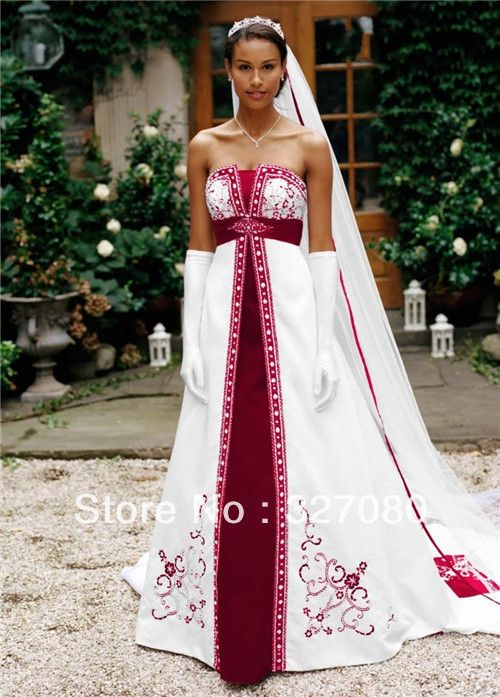 Pin by francesca thomas on wedding dresses with red trim for White wedding dress with blue trim