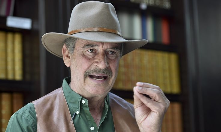 Vicente Fox says that if Trump imposed tariffs Mexico would have to react in kind, adding that it's up to Clinton to 'save' the US from a Trump presidency