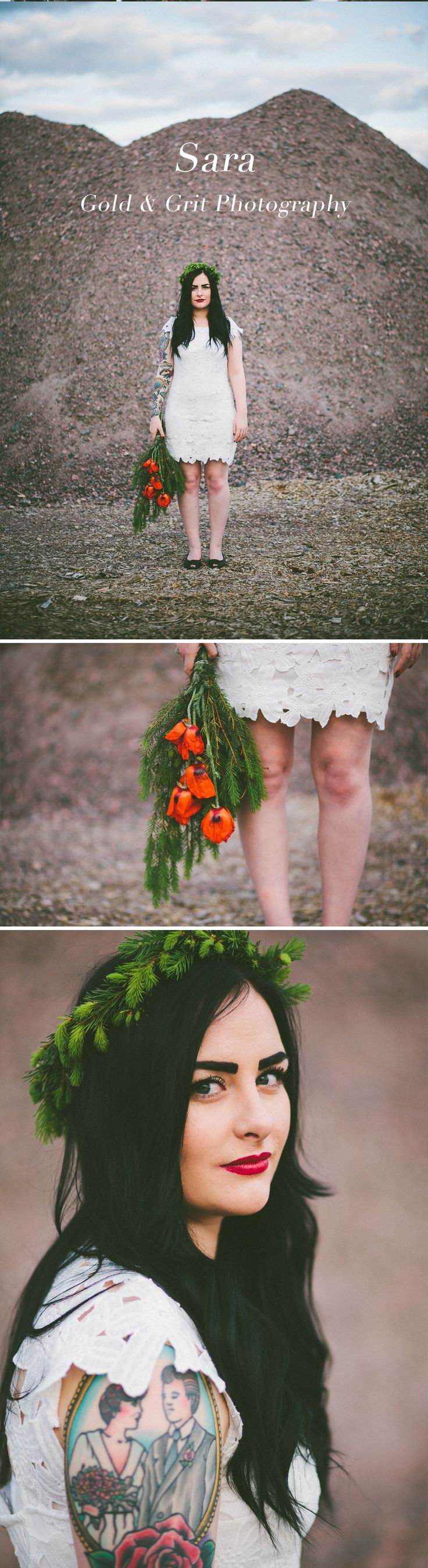 Quirky countryside wedding photography with some attitude + tattoos / Kumla, Sweden / Gold and Grit Photography