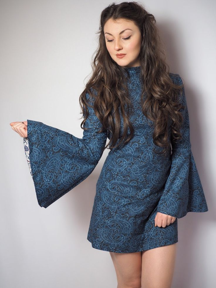 70's flare sleeve paisley dress by VioletHouseClothing on Etsy https://www.etsy.com/listing/270826934/70s-flare-sleeve-paisley-dress