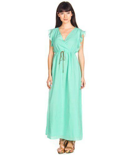 Vestidos Vero Moda Wrap Verde Agua en Nice & Crazy