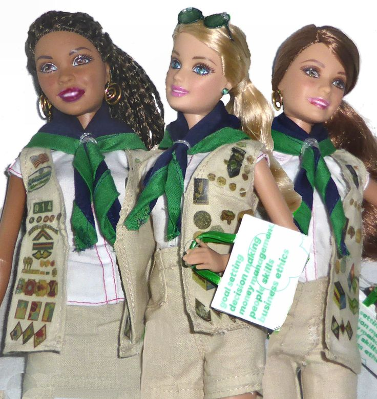 33 Best Images About Girl Scout Barbie Doll Remake On