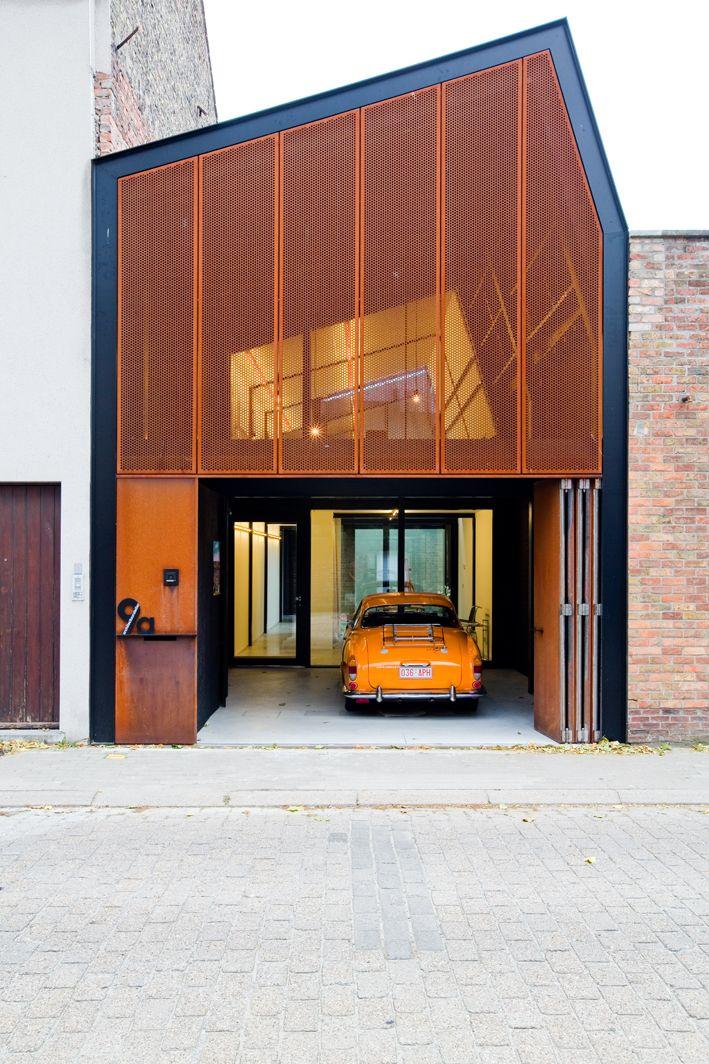 architectuuratelier 9a, house AWVP Bruges, Belgium photo Yannick Milpas