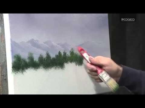 les 25 meilleures idées de la catégorie peintures d'arbres sur ... - Technique Peinture Acrylique Sur Bois