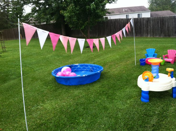 One Year Old Back Yard Party