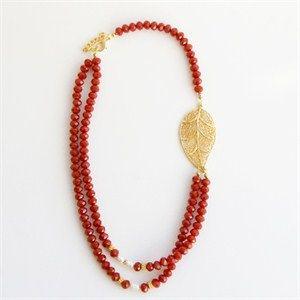 Elfide Takı Kırmızı kristal kolye - Takı / Mücevher - Hepsiburada.com