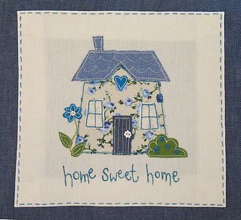 home sweet home appliqued cushion by the apple cottage company | notonthehighstreet.com