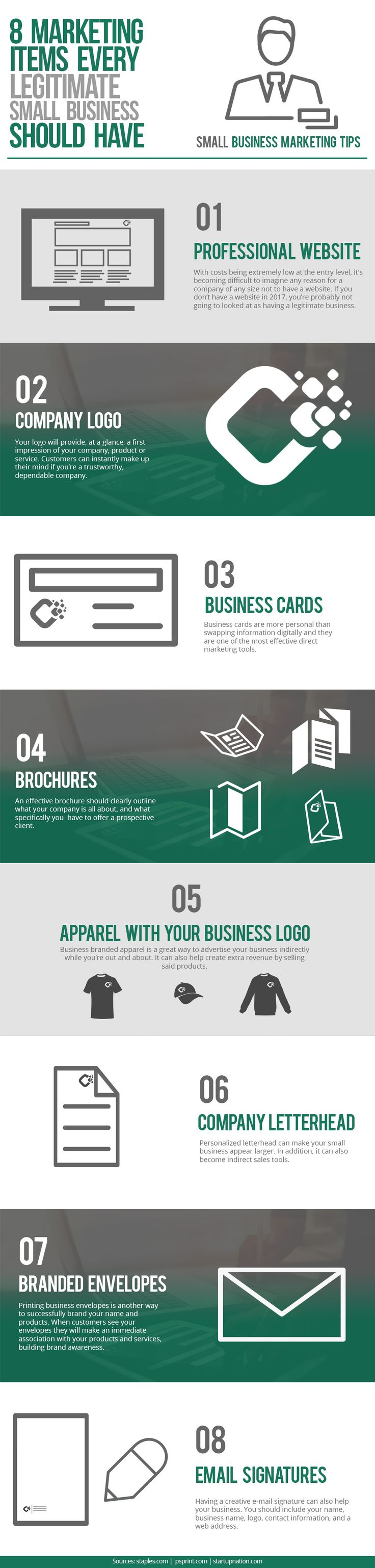 928 best marketing infographics images on pinterest 8 marketing items every legitimate small business should have infographic fandeluxe Gallery