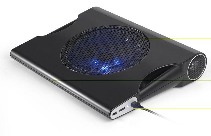 Suporte Notebook Cooler 15.6'' Usb2.0 Com Caixa Som Imbutida