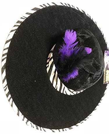 3dae8d254e6 Real Deal Pimp Hat with Zebra Trim and Purple and Black Feathers ...