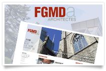 New website for for Montreal-based architecture firm, Fournier Gersovitz Moss Drolet et Associés Architectes (FGMDA).
