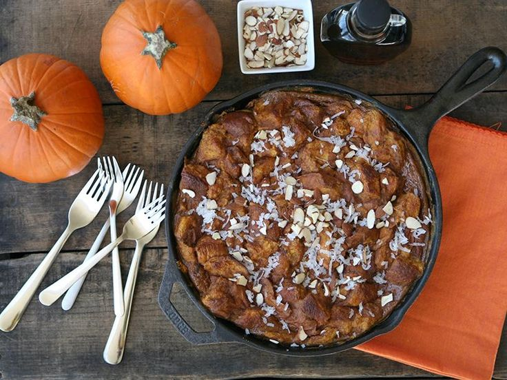 Baking French toast in a cast iron pan makes for a beautiful, rustic oven-to-table presentation.