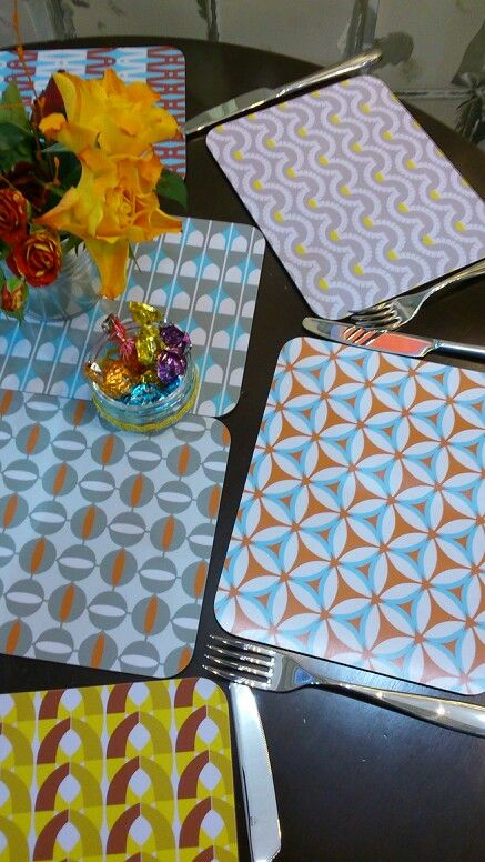 Jenny Duff : Gillian Blease Maritime tablemats placemats mats Alessi Cutlery