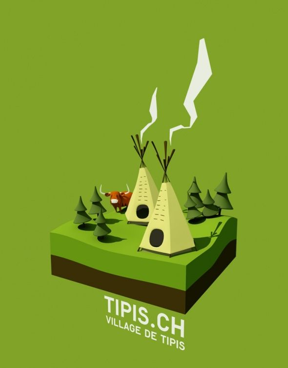 Tipis #3d #lowpoly
